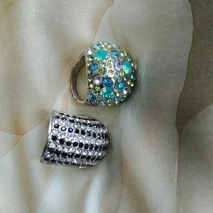 Two large costume rings